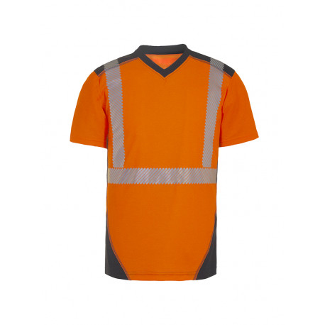 Tee-shirt JAKARTA MANCHES COURTES Coton/Polyester ORANGE/MARINE